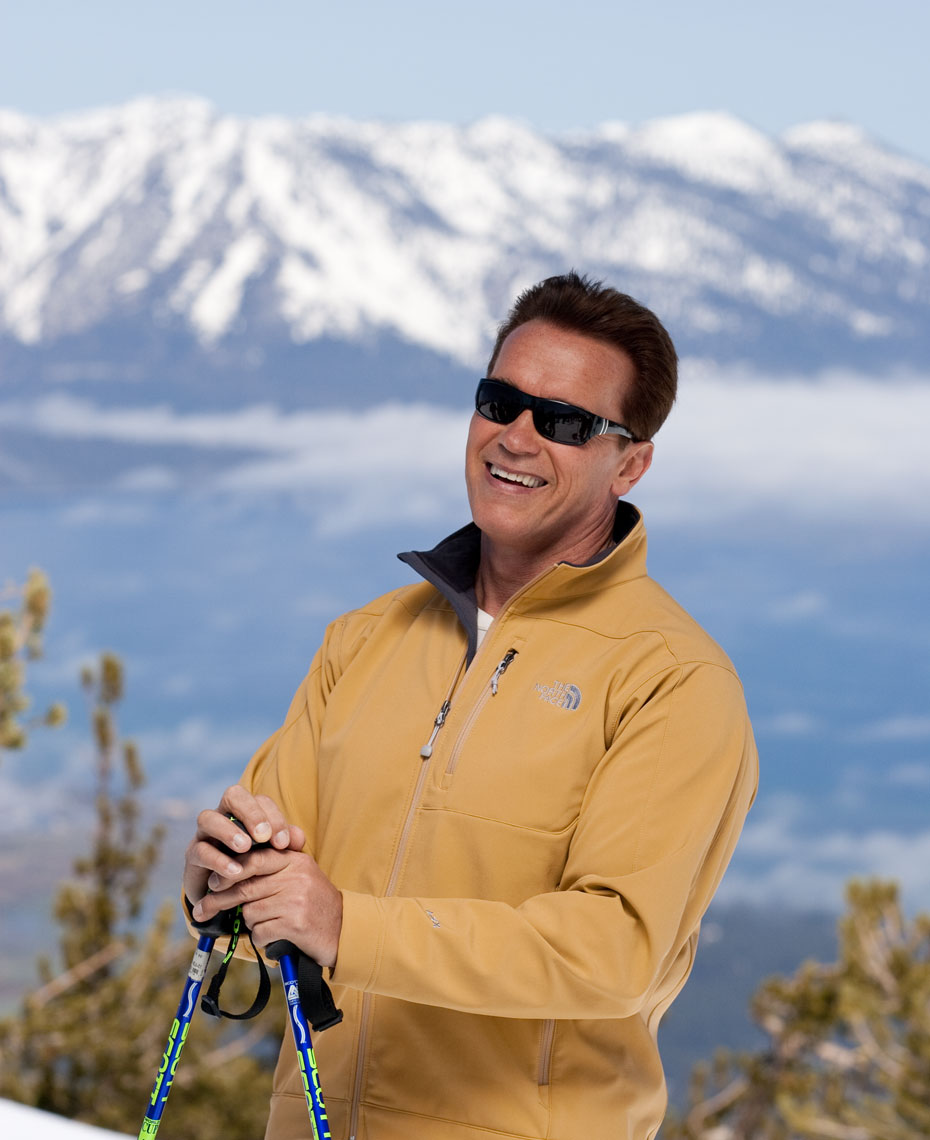 Arnold Schwarzenegger Visit California Photography Lake Tahoe