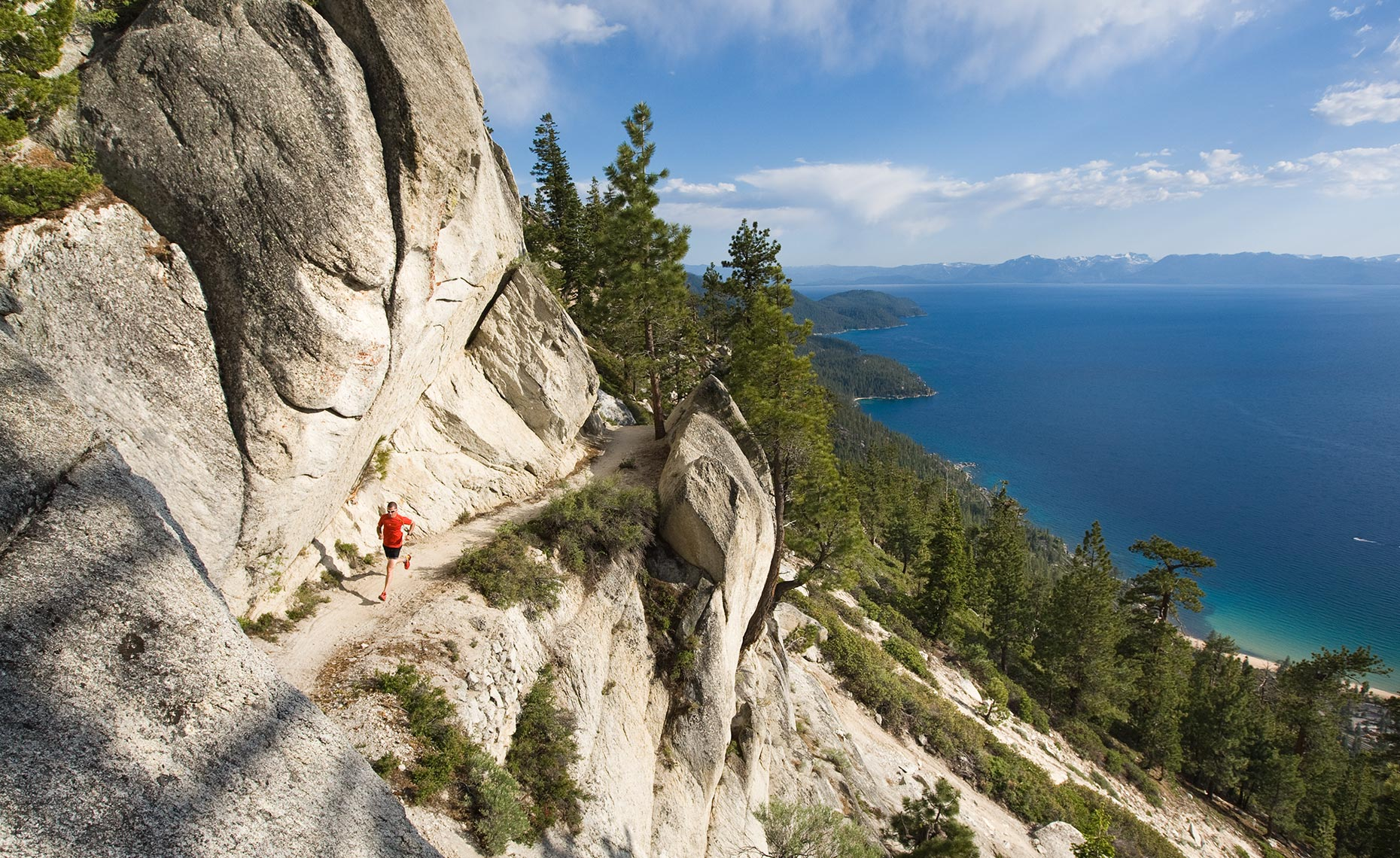 Lake Tahoe California Runner Photo